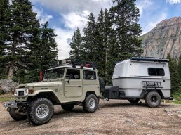 GoBE camper attached to Land Rover in Colorado