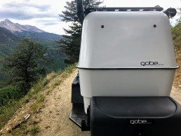 Camper on backroad in Colorado