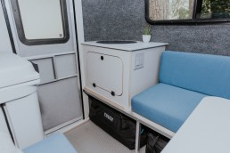 Interior of GoBE camper