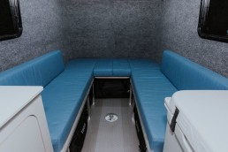 Couches inside GoBE camper