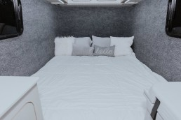 Bed inside GoBe camper